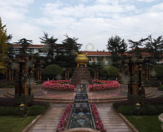 成都周边公墓温江大朗陵园东西南北坐山均有的花园式公墓